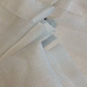 Accents - White Sheer Linen Tex Rod Pocket 4 Panel Curtains